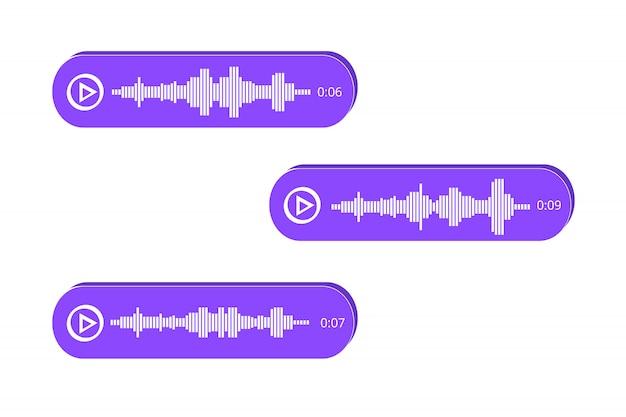 Icône de messages vocaux, notification d'événement. illustration