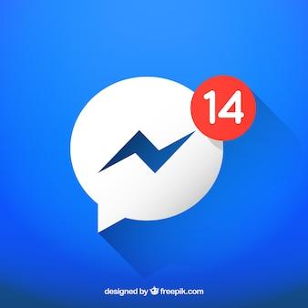 Icône messenger avec notifications
