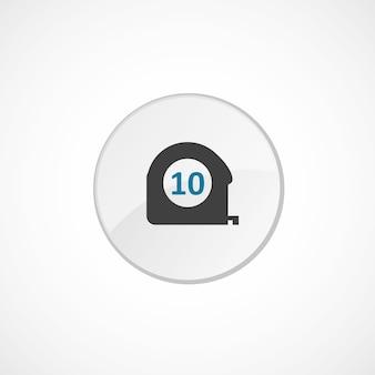 Icône de mesure 2 couleur, gris et bleu, badge cercle