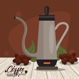 Icône de méthode de préparation de café percolateur