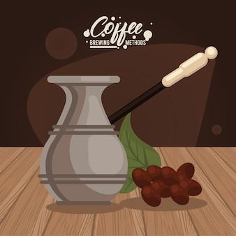 Icône de méthode de préparation de café turc