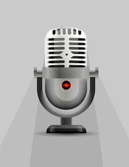 Icône de microphone avec un indicateur lumineux.