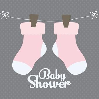 Icône mignon de chaussettes bébé