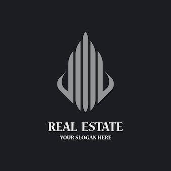 Icône de modèle de logo immobilier