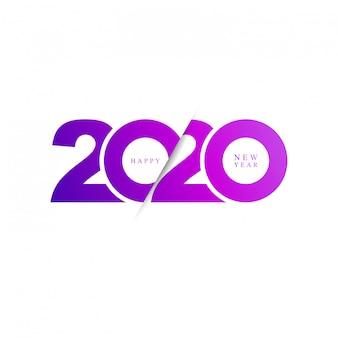 Icône moderne bonne année 2020