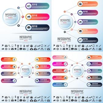 Icône moderne info growth infochart finance