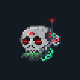 Icône de moissonneuse cyberpunk pixel art
