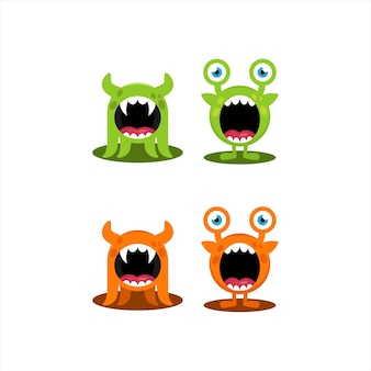 Icône monstre logo