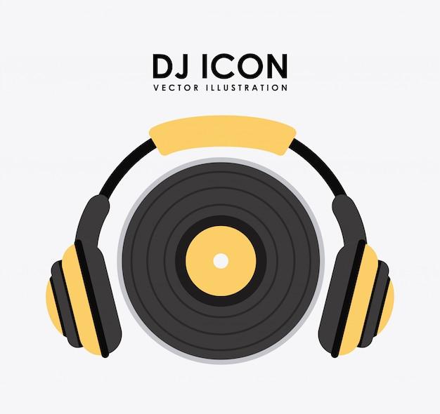 Icône de la musique sur l'illustration vectorielle fond blanc