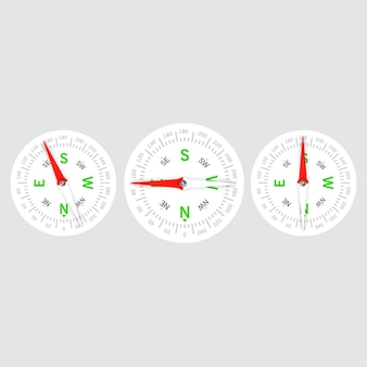 Icône de navigation et de direction. boussole, direction et navigation