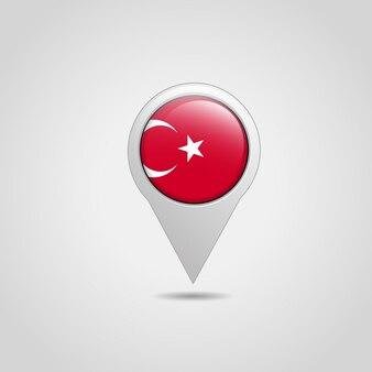 Icône de navigation avec le vecteur de drapeau turc