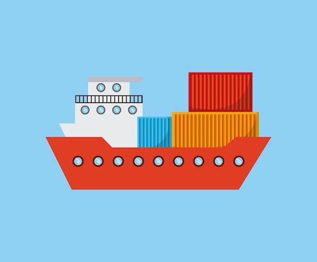 Icône de navire de charge