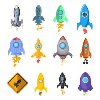 Icône de navire rocket collection