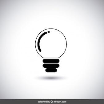 Icône noire de l'ampoule
