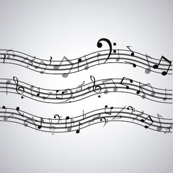 Icône de note de musique isolé