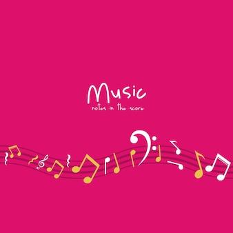 Icône de note de musique multicolore