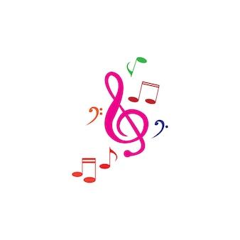 Icône de note de musique vector illustration design