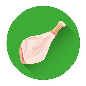 Icône de nourriture fraîche de poulet entier