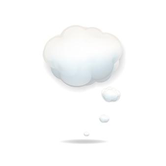 Icône nuage sur fond blanc