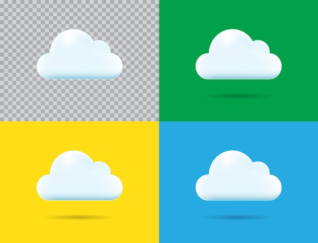 Icône de nuage de vecteur professionnel