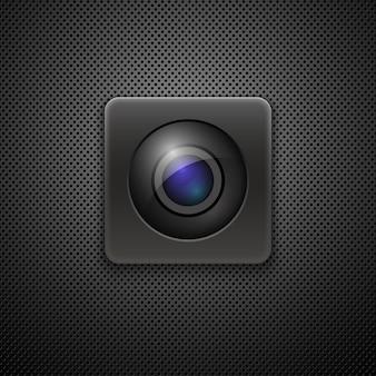 Icône d'objectif de caméra