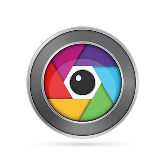 Icône d'objectif de caméra.
