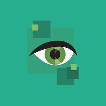 Icône oeil vert