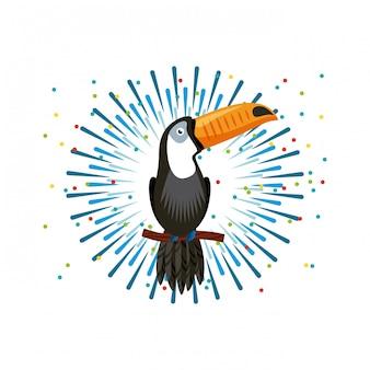Icône d'oiseau toucan
