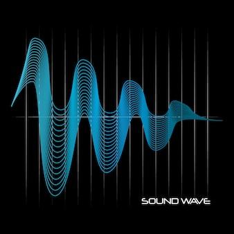 Icône d'onde sonore modulante bleue