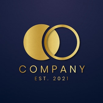 Icône d'or de logo d'entreprise de luxe