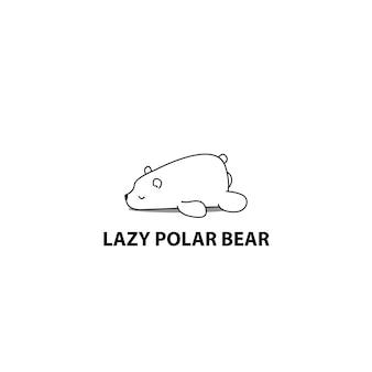 Icône de l'ours polaire paresseux