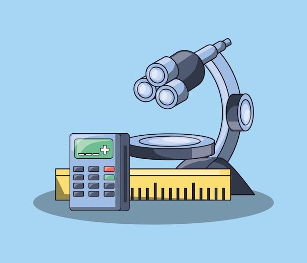 Icône d'outil de microscope