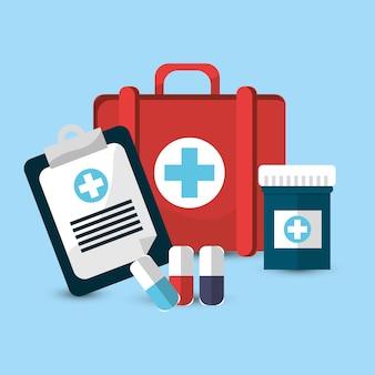Icône des outils de médecine de l'hôpital
