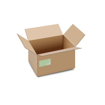Icône ouverte de boîte de carton