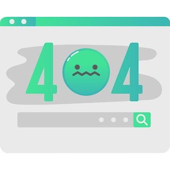 Icône de page d'échec d'alerte web de vecteur d'erreur de site web