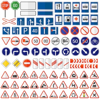 Icône de panneau de signalisation.