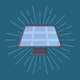 Icône de panneau solaire