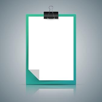 Icône de papier a4 sur le fond gris.