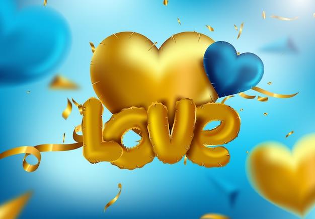 Icône de papier glacé ballon coeur isolé pour la saint valentin