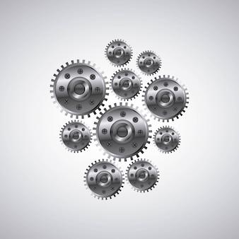 Icône de paramètres de machine d'engrenages
