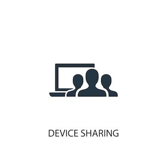 Icône de partage de périphérique. illustration d'élément simple. conception de symbole de concept de partage de périphérique. peut être utilisé pour le web et le mobile.