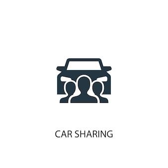 Icône de partage de voiture. illustration d'élément simple. conception de symbole de concept de partage de voiture. peut être utilisé pour le web et le mobile