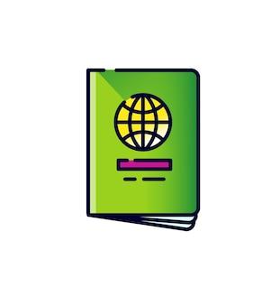 Icône de passeport international