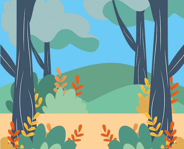 Icône de paysage rural