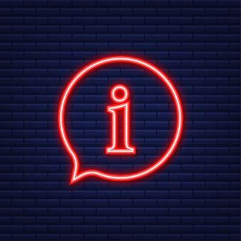 Icône de pépin de signe d'information. bulle d'information. illustration vectorielle.