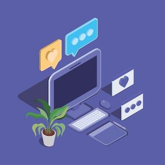 Icône de périphérique de technologie d'ordinateur de bureau