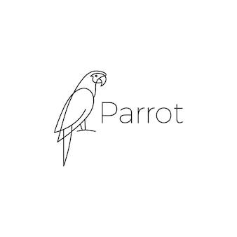 Icône de perroquet logo oiseau vector illustration
