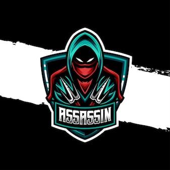 Icône de personnage assassin logo esport