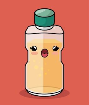 Icône de personnage bouteille miel kawaii