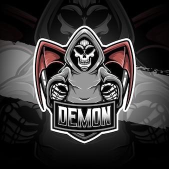 Icône de personnage de démon de logo esport